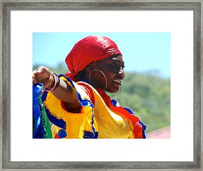 The Colors Of Haiti Framed Print by David Coleman