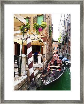 The Colors Of Venice Framed Print by Irina Sztukowski