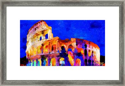 The Colosseum Tnm Framed Print by Vincent DiNovici