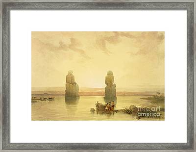 The Colossi Of Memnon Framed Print by David Roberts