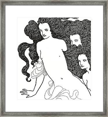The Comedy Of The Rhinegold Framed Print by Aubrey Beardsley