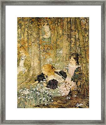 The Coming Of Spring, 1899 Framed Print by Edward Atkinson Hornel