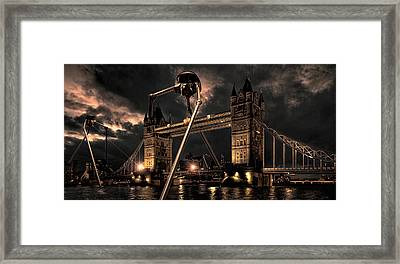 The Coming Of The Martians Framed Print by Peter Chilelli