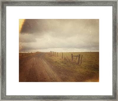 The Coming Storm - Warm Framed Print by Joy StClaire