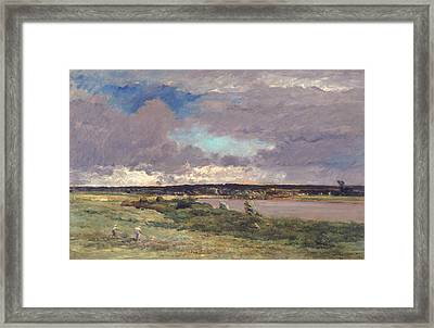 The Coming Storm Framed Print by Charles Francois Daubigny