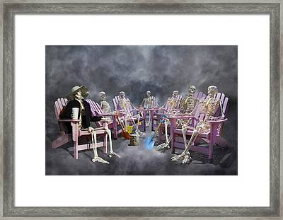 The Committee Reaches Enlightenment Framed Print by Betsy Knapp