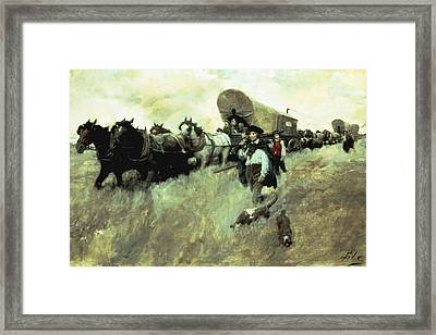 The Connecticut Settlers Entering Framed Print by Howard Pyle