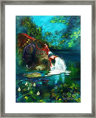 The Connection Framed Print by Donna Chaasadah