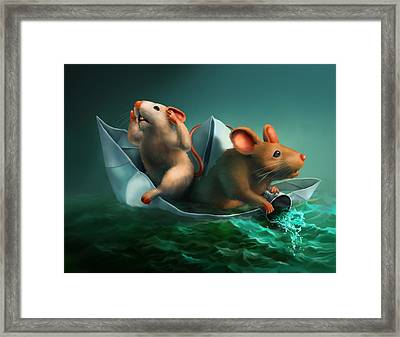 The Conspicuous Failure Of The Paper Boat Experts Framed Print by Vanessa Bates