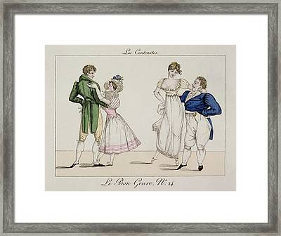The Contrasts, Plate 24 From Le Bon Framed Print by French School