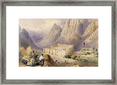 The Convent Of St. Catherine, Mount Framed Print by William Henry Bartlett