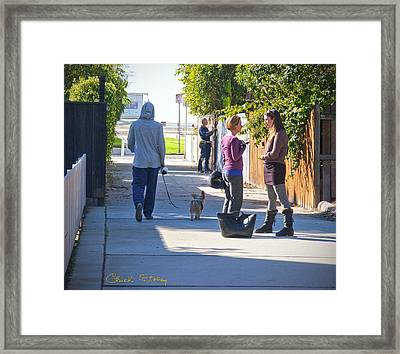 The Conversation Framed Print by Chuck Staley