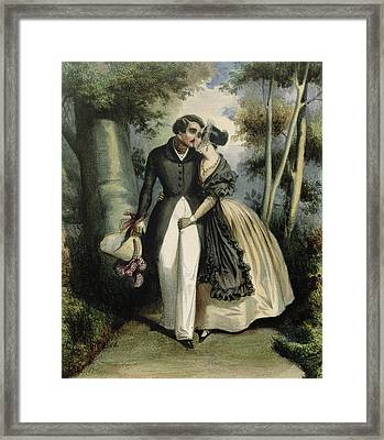 The Conversation Framed Print by French School