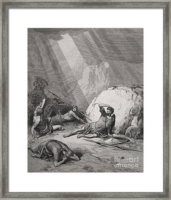 The Conversion Of St. Paul Framed Print by Gustave Dore