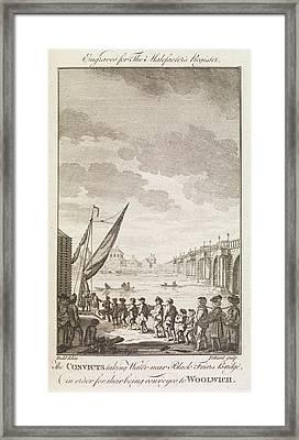 The Convicts ... Near Blackfrairs Bridge Framed Print by British Library