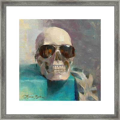 The Cool Kid Framed Print by Anna Rose Bain