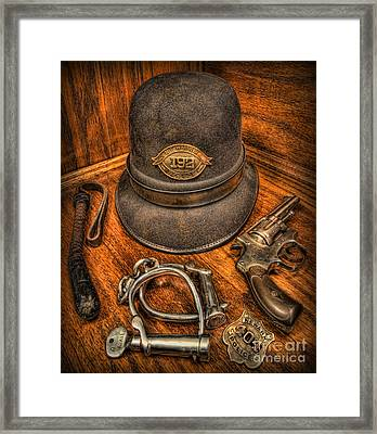 The Copper's Gear - Police Officer Framed Print by Lee Dos Santos