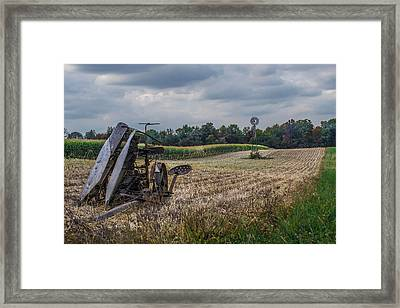The Corn Picker Framed Print by Anthony Thomas