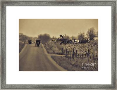 The Corn Picker Framed Print by David Arment