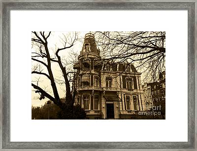 The Corner House Framed Print by Pravine Chester