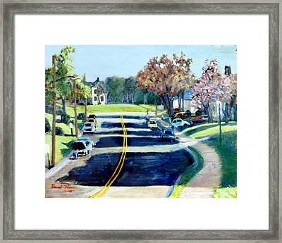 The Corner Of Woodrow And Wilson Framed Print by David Zimmerman