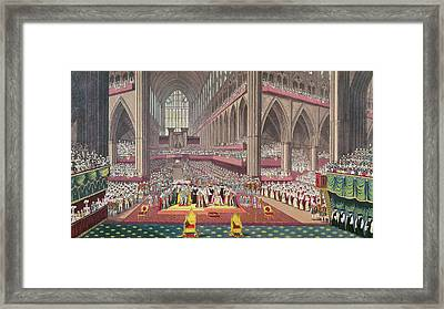 The Coronation Of King William Iv And Queen Adelaide, 1831 Colour Litho Framed Print by English School