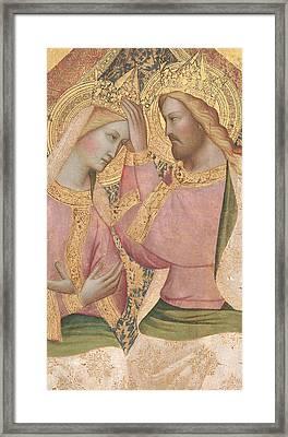 The Coronation Of The Virgin Framed Print by Agnolo Gaddi