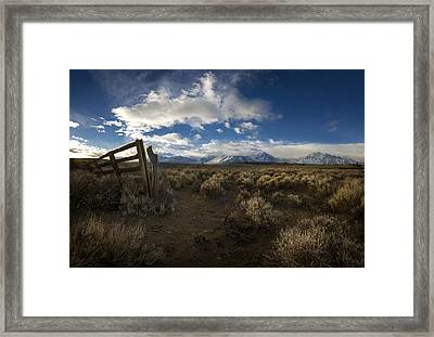 The Corral Framed Print by Sean Foster