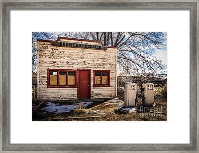 The Country Corner Framed Print by Bob and Nancy Kendrick