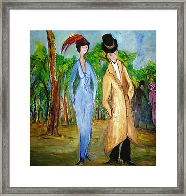 The Couple Framed Print by Doris Cohen