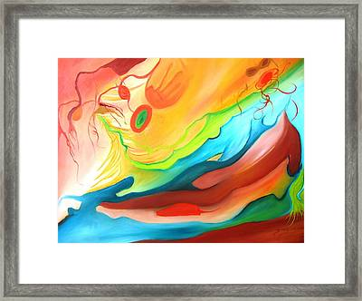 The Couple In Heaven Framed Print by Doris Cohen