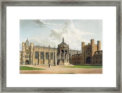 The Court Of Trinity College Framed Print by William Westall