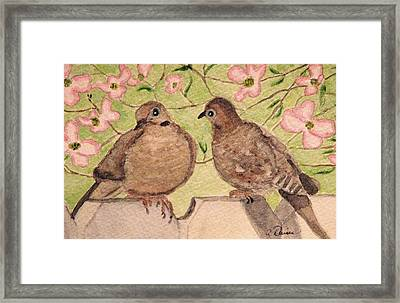 The Courtship Framed Print by Angela Davies