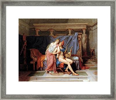 The Courtship Of Paris And Helen Framed Print by Jacques Louis David