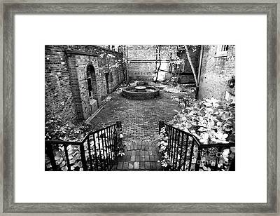 The Courtyard At The Old North Church Framed Print by John Rizzuto