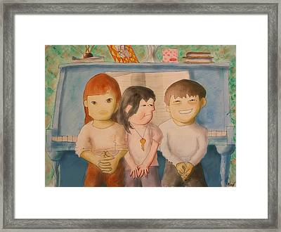 Trio Framed Print by Michelle Berger