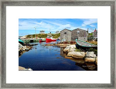 The Cove 2 Framed Print by Ron Haist