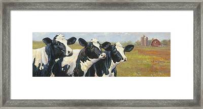 The Cow Girls Framed Print by Tracie Thompson