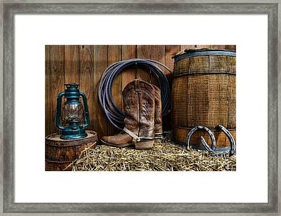 The Cowboy Framed Print by Paul Ward