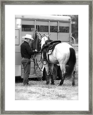 Just Another Day - The Cowboy Framed Print by Valentina Miletic