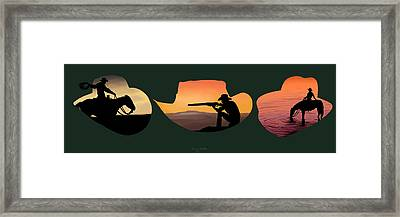 The Cowboy Way Framed Print by Brien Miller