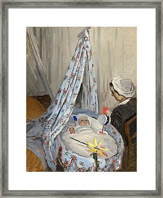 The Cradle Framed Print by Claude Monet