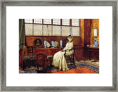 The Cradle Song Framed Print by John Atkinson Grimshaw