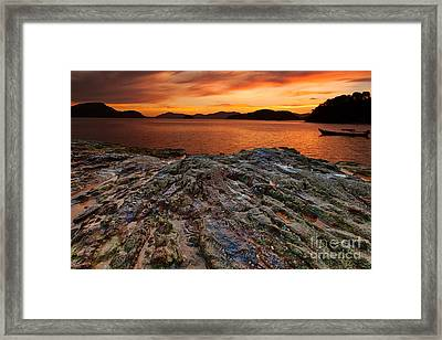 The Creation Of Light Framed Print by Pete Reynolds