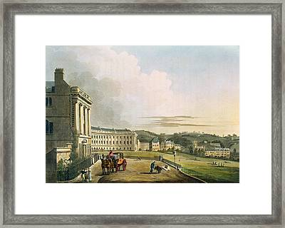 The Crescent, From Bath Illustrated Framed Print by John Claude Nattes