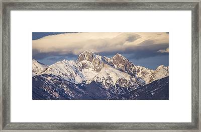 The Crestones 1x2 Framed Print by Aaron Spong