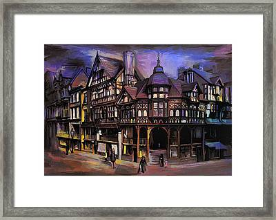 The Cross And Rrows Chester England Framed Print by Andrzej Szczerski