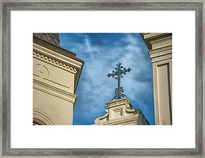The Cross Framed Print by Brenda Bryant