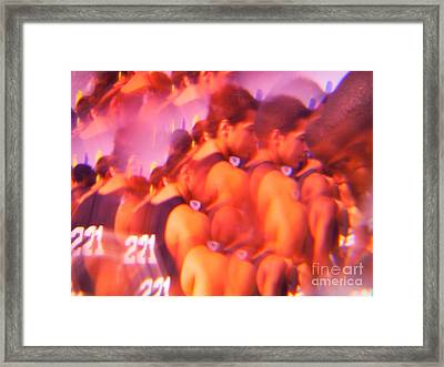 The Cross Country Runners Series 6 Framed Print by Paddy Shaffer