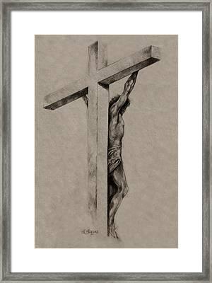The Cross Framed Print by Derrick Higgins